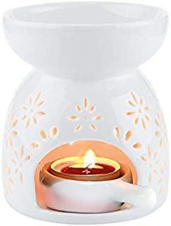 SYOSI Wax Melt Essential Oil Burner, Ceramic Aroma Burners Assorted Wax Warmer Aromatherapy Tarts Holder Candle Scented Di...