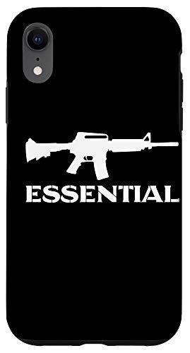 iPhone XR AR-15 Gift | Essential AR-15 | Black White AR 15 Gun Case