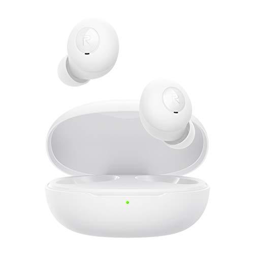 realme - Audifonos Bluetooth Buds Q, Resistencia al Agua IPX4, batería de 20 Horas, Modo Juego de Baja Latencia, Cómodos y Ligeros 3.6g, Modo Stereo, Compatible con Android y iPhone, Mac OS (Blanco)