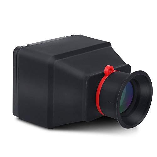 Tangxi Visor de cámara LCD, Visor de Lupa Duradero Plegable de 3.2 Pulgadas con sombrilla para cámaras DSLR sin Espejo