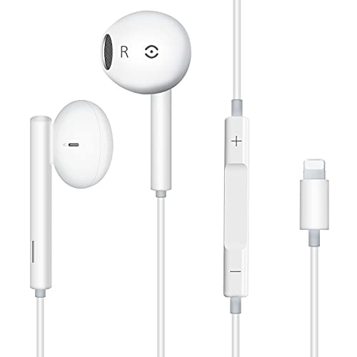 Auricolari in-Ear Cuffie con filo cablato Forniscono controllo del volume e del microfono Compatibile con iPhone 12/11/11Pro/Max/XS/Max/XR/X/8/8Plus/7/7Plus/tablet, computer portatili