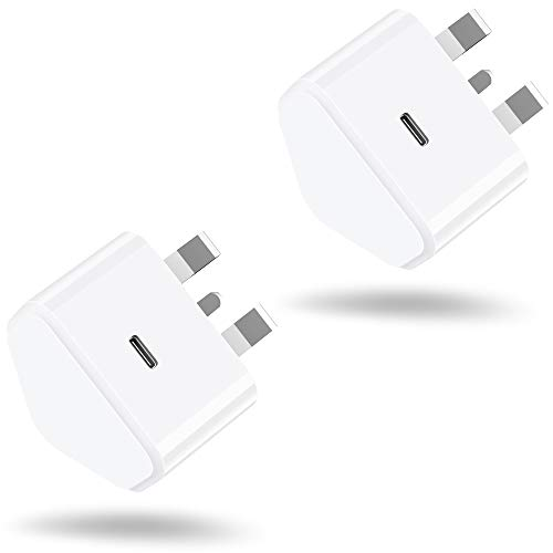 AXIULOO 2-Pack 20W USB C Fast Charger Replacement for iPhone 12/12 Mini/12 Pro/12 Pro Max, PD 3.0 Mains Wall Charging Plug Power Delivery Adapter for Phone 11 Pro Max SE 2020, iPad Pro, AirPods Pro