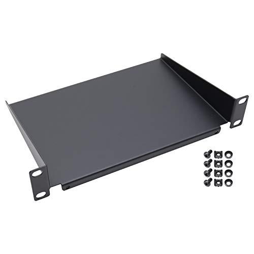 HMF 63399-02 Fachboden für Serverschrank | 10 Zoll | 1 HE | 150 mm Tiefe | Schwarz