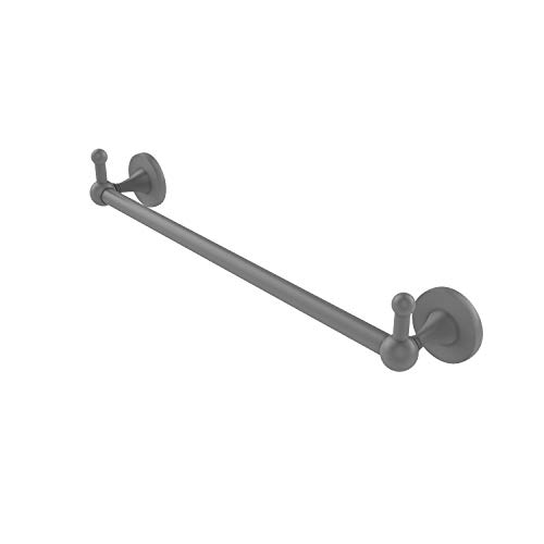 Allied Brass SL-41-18-PEG Shadwell Collection 18 Inch Integrated Hooks Towel Bar, Matte Gray
