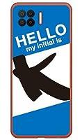 [OPPO A73 CPH2099/楽天モバイル専用] Coverfull スマートフォンケース Cf LTD ハローイニシャル K ブルー (クリア) ROPA73-PCCL-152-MC81