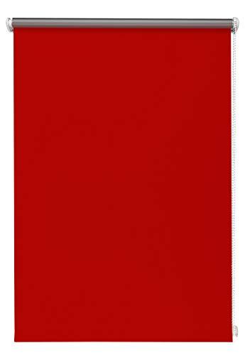 Beyond Drape Thermo-Rollo ohne Bohren Verschiedene Größen und Farben Verdunkelungsrollo Seitenzugrollo Klemmrollo Blackout Silberbeschichtung Rot 90x150 cm
