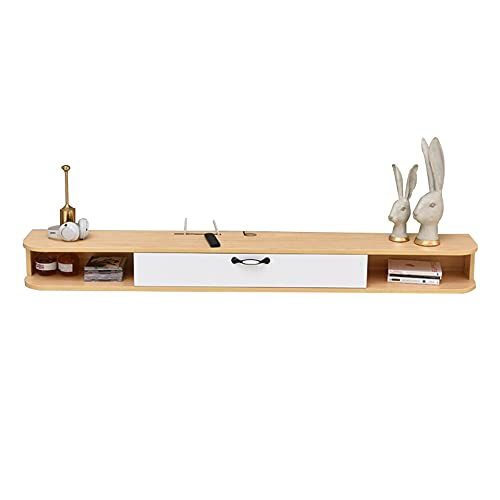 Mueble TV Colgante,Mesa para TV Lowboard Movie,Mueble de TV flotante, resistente al desgaste y duradera, para sala de estar, dormitorio, oficina, ahorra espacio/B / 100x24x16.5cm