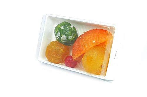 Fruta Escarchada y glaseada, bandeja de 400 gr. Surtido variado de Frutas Glaseadas o Escarchada de primera calidad, en bandeja de 400 gr, recién hecha.