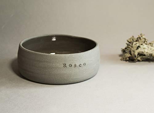 Futternapf keramik hund grau- 500 ml, Keramik Hundenapf ︎ personalisiert ︎ mit Name deines Hundes┊Futternapf Wassernapf