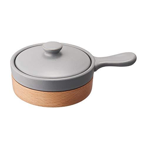 ドウシシャ エッグベーカー 電子レンジ オーブン対応 レシピ付き グレー LivE