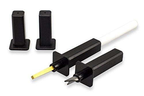 SchärfWunder Plabo Blitzschärfer NEO & Keramik - Set für Messer, Scheren uvm.