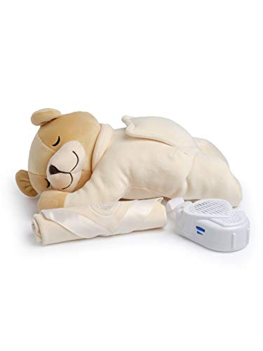 Prince Lionheart Slumber Bear with Silkie| Sleep Aid | Soothing Womb Sounds | Designed By A Doctor | Newborn, Infant & Toddler | White Noise | Removeable Sound Box – Cream