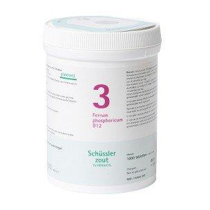 Schüssler salt pflüger Nr 3 | Ferrum phosphoricum D12 | 1000 compresse | Senza Glutine
