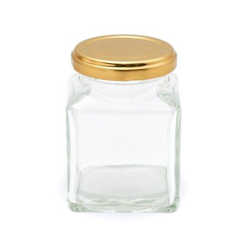 小分け保存用ジャム瓶(185ml角) / 1個 TOMIZ/cuoca(富澤商店)