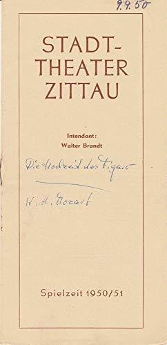 Programmheft Wolfgang Amadeus Mozart DIE HOCHZEIT DES FIGARO Spielzeit 1950 / 51