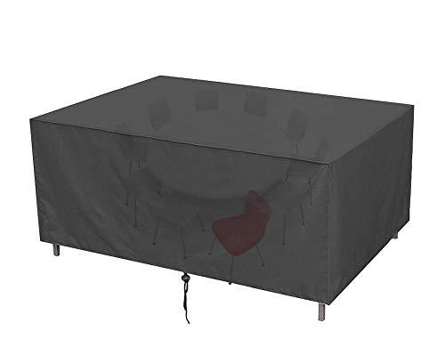 160x140x100cm Copertura Tavolo Giardino Impermeabile Antivento Telo Protettivo per Tavolo,Copertura di protezione per mobili da giardino,210D Telo Oxford,Nero