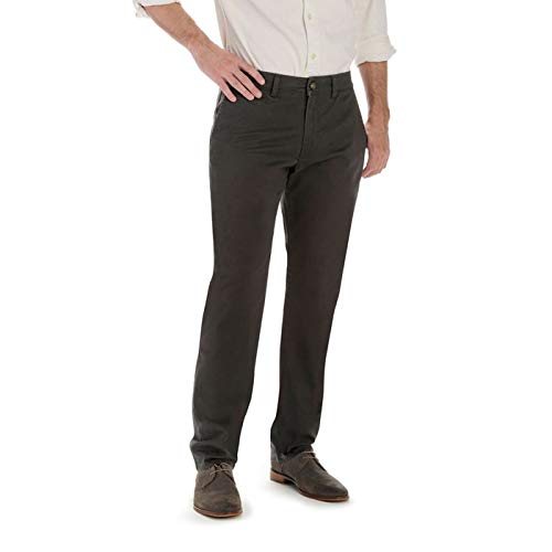 LEE Men's Super Soft Slim Fit Chino, Dark Gray, 36W x 34L