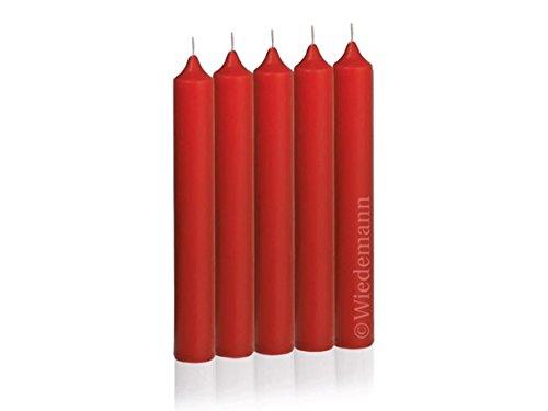 Bougies pour sapin de Noël - 96 x 13 mm, 20 bougies Rouge