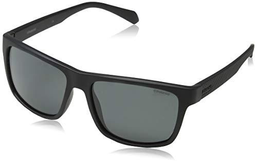 Polaroid Eyewear Herren PLD 2058/S Sonnenbrille, Schwarz (MTT Black), 55