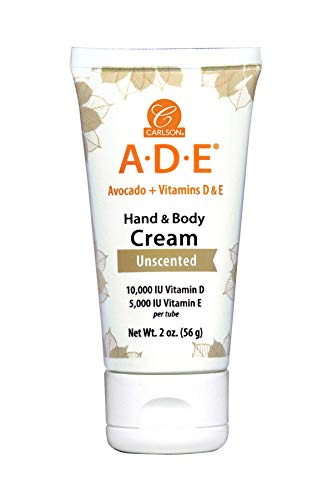 Carlson Labs ADE Hand & Body Cream, Unscented, 56g