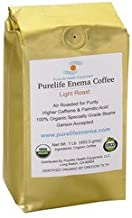 Purelife Mold-Free Enema Coffee - Doctors Choice - 1 Lb Whole Bean - Light AIR Roast -100% Organic - Gerson Accepted - A USA Company -Ships Fresh and Direct from Purelife Enema - Gerson