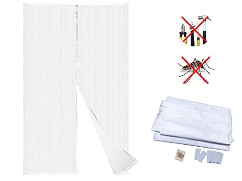 LEDLUX Tenda Zanzariera Magnetica Porta Finestra Bianco 150X250cm