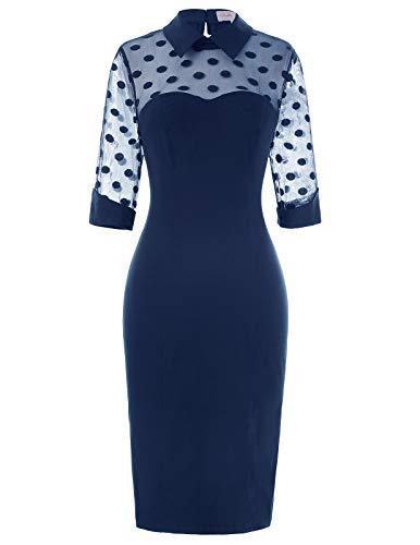 Belle Poque Damenkleider elegant festlich Sommerkleid Knielang 50er Jahre Kleid BP270-2 L