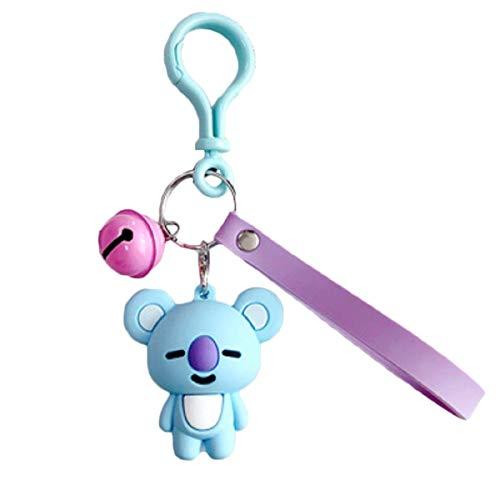 Wide.ling BT21 Offizielle BTS-Merchandise mit Linie Freunde - Charakter-Puppe-Schlüsselanhänger Nette Handtaschen Zubehör (entworfen von Bangtan Boys) Klein Shooky (Koya)