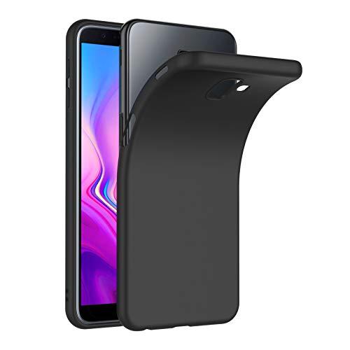 AICEK Cover per Samsung Galaxy J6 Plus, Cover Galaxy J6+ Nero Silicone Case Molle di TPU Sottile Custodia per Samsung J6+ (6.0 Pollici)