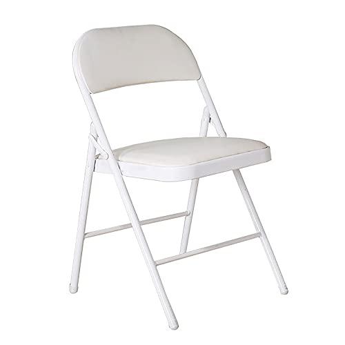 HAO Metalowe krzesło składane, wyściełane krzesło składane, krzesło składane, oparcie ramy, krzesło składane meble, składane krzesło, plastikowe krzesło składane, krzesło biurowe kempingowe, składane oparcie fotel, białe