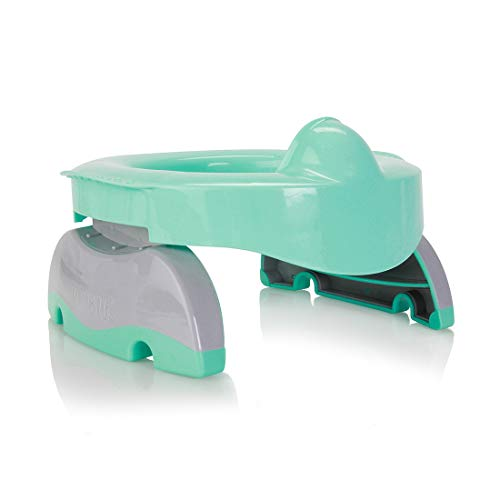 Potette Max 3-in-1 Potty Training Essential | Award-Winning Compact Potty and Toilet Training Seat | Includes x3 Disposable Liners, A Reusable Liner & Carry Bag | Teal