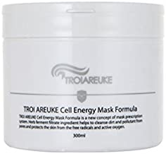 TROIAREUKE Cell Energy Mask Formula 10.14 Ounce, Korean Cruelty Free Skin Care Purifying Whitening Brightening Pore Cleansing Clay Mask