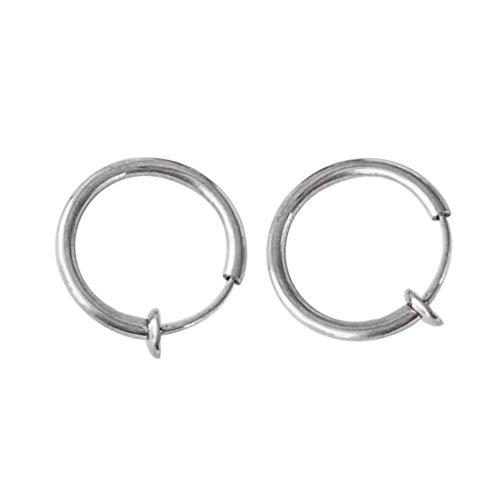 2PCS Clip on Body Nose Lip Ear Fake Retractable Earrings Hoop Earrings Septum Silver Jewelry & Watches Earrings For Woman Easter Gift
