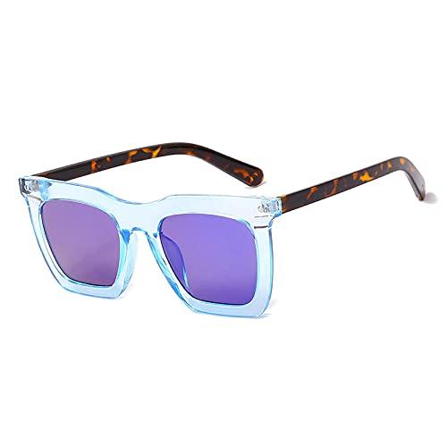 Gafas De Sol Hombre Mujeres Ciclismo Gafas De Sol Cuadradas con Parte Superior Plana A La Moda para Mujer, Gafas Graduadas Vintage para Hombre, Gafas De Sol-C3