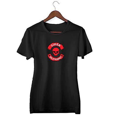 KLIMASALES Skull Siker Galatasaray Vintage Logo_KK020315 T-shirt voor vrouwen - zwart