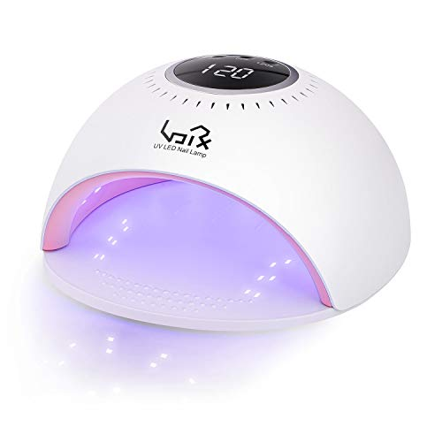 Urvoix Gel UV LED Nail Lamp - 84W Nail Dryer Light with Whitening Function, LCD Display, Auto-Sensing, 3 Timers Touch Control Professional Salon Curing Lamp for Gel Nails and Toe Nails Polish