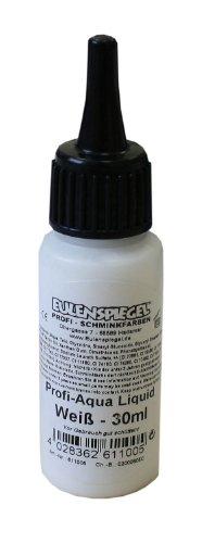 Eulenspiegel 611005 - Professional Liquid Aqua Schminke - 30 ml - Weiß