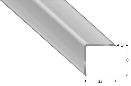 Mauerkantenprofil/Eckschoner aus Aluminium. 150cm lang silber (Aluminium, 25x25x1,5)