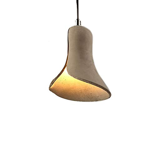 Industrial Pendant lamp Cement lampshade Retro Loft Ceiling lighting Dining Room Aisle Coffee Bar Kitchen Island Hanging Lamp fixture E27 Grey Chandelier,Height Adjustable (C)