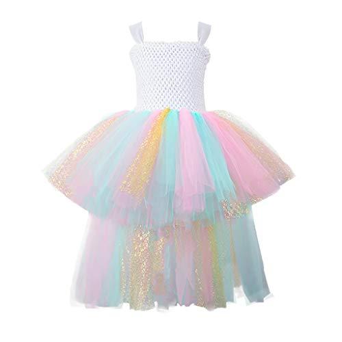 Janly vendita di liquidazione ragazze vestito per 0-10 anni, bambino ragazza formale tulle tutù principessa rondine vestito abiti, Multicolore, 2-3 Anni