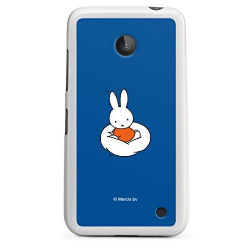 DeinDesign Silikon Hülle kompatibel mit Nokia Lumia 630 Hülle weiß Handyhülle Miffy Kinder Hase