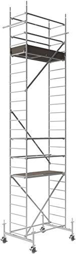 ALTEC Rollfix 700, Arbeitshöhe 7 m neu, inkl. höhenverstellbarer Rollen (Ø 150 mm), Fahrtraverse und Wandanker, TÜV-geprüft,