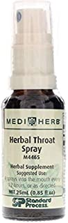 MEDIHERB Herbal Throat Spray - Improved Respiratory Tract Function - Promote Healthy Throat Tissue - All Natural Ingredients - Organic Herbal Supplements - Non-GMO - Made in The USA - 0.8 fl oz