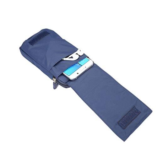 DFV mobile - Funda Multiusos Cartera con Varios Compartimentos para Cinturon y con Mosqueton para ZTE Axon 11 SE 5G (2020) - Azul XXM (18 x 10 cm)