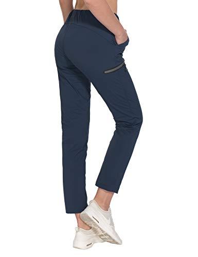 Little Donkey Andy - Pantaloni da donna ultra elasticizzati, ad asciugatura rapida, leggeri, con coulisse, da viaggio e trekking, Donna, A3. blu navy, Small