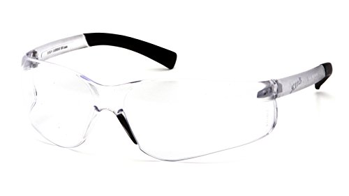 Pyramex Ztek Readers Bifocal Safety Glasses Eye Protection, Clear Lens, 2.5 Diopters