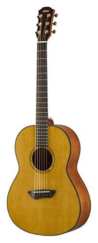 Yamaha CSF1MVN Westerngitarre natur, Kompakte und elegante Akustikgitarre mit sattem Sound, Ideal für unterwegs, Inklusive Gitarrentasche