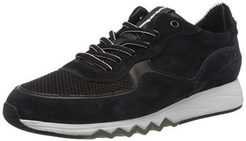 Floris van Bommel Herren 16093/17 Sneaker, Blau (Navy Suede Combi 17), 42 EU