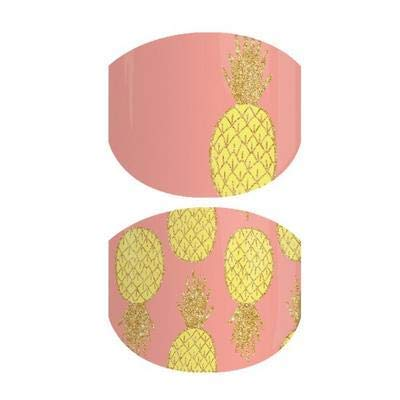 Pineapple Burst Jr-Jamberry Nail Wrap-Juniors/Child Size-Full Sheet-Pineapples on Coral Peach