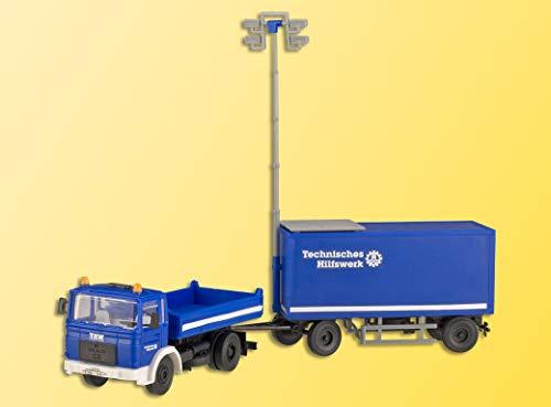 Viessmann 18462 - H0 THW Man Zugfahrzeug mit Flutlicht-Anhänger